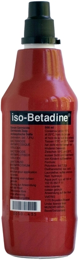 iso-Betadine Savon Germicide 7,5% Solution pour Application Cutanée 500ml | Désinfectants - Anti infectieux