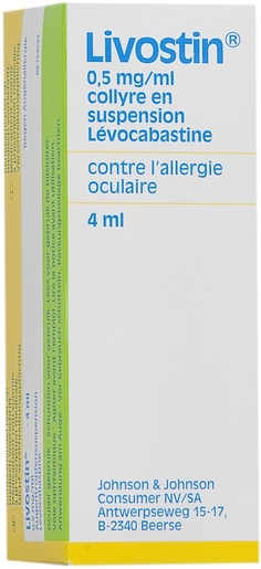 Livostin 0,5 mg/ml Collyre 4ml | Allergies