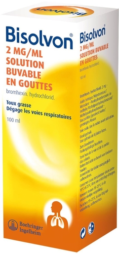 Bisolvon 0.2% Solution Buvable en Gouttes 100ml | Toux grasse