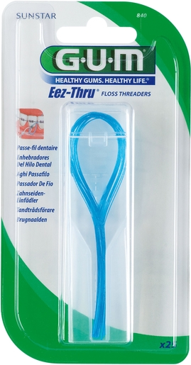 GUM Eez-Thru Floss Threaders 25 Pièces | Fil dentaire - Brossette interdentaire