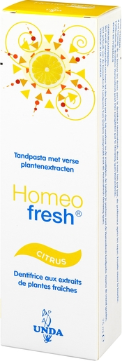Homeofresh Dentifrice Bio Citron 75ml | Produits Bio
