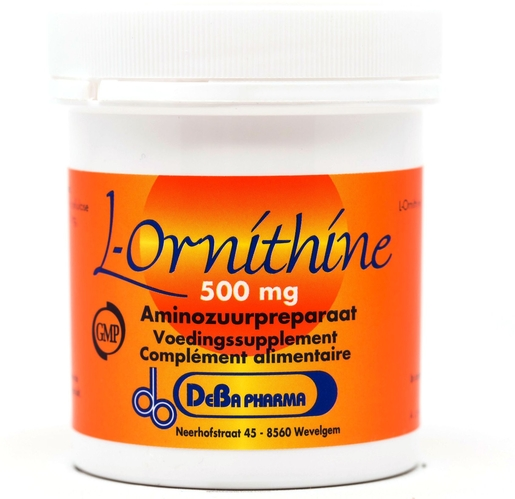 L Ornithine 500mg 60 Capsules Deba Pharma | Divers