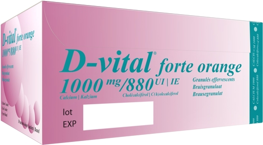 D-Vital Forte 1000/880 Orange 30 Sachets | Calcium - Vitamines D