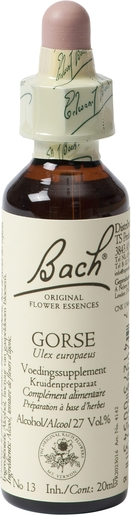 Bach Flower Remedie 13 Gorse 20ml | Doute - Incertitude