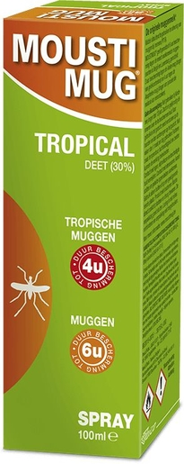 Moustimug Tropical 30% Deet Spray 100ml | Répulsifs