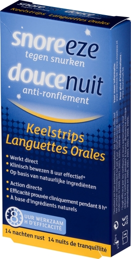 Douce Nuit Strips Oral 14 | Ronflements
