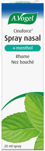 A. Vogel Cinuforce Spray Nasal Menthol 20ml | Respiration - Nez