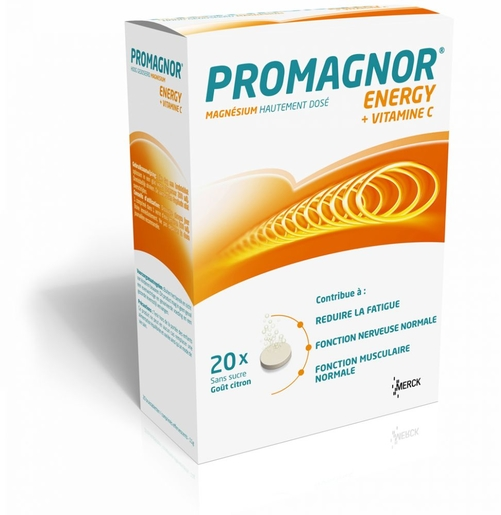 Promagnor Energy 20 Comprimés Effervescents | Fatigue - Convalescence