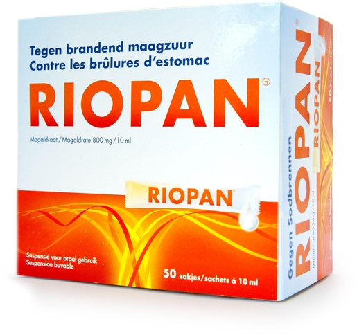 Riopan Suspension Buvable 50 Sachets x10ml | Acidité gastrique