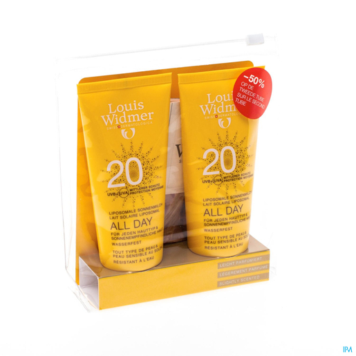 Widmer Sun All Day IP20 2x100ml (-50% sur 2eme) | Protection solaire