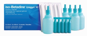 iso-Betadine Unigyn 10% Solution Vaginale 5 Monodoses + 5 Canules