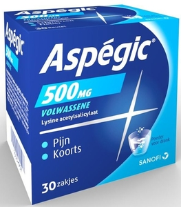 Aspegic 500mg Adulte 30 Sachets