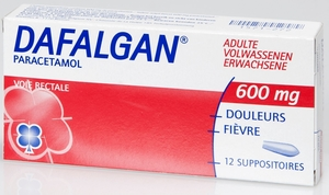 Dafalgan Adulte 600mg 12 Suppositoires