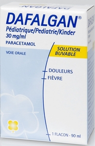 Dafalgan Pédiatrique 30mg/ml Solution Buvable 90ml
