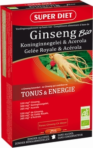 Super Diet Ginseng Bio 20 Ampoules x 15ml