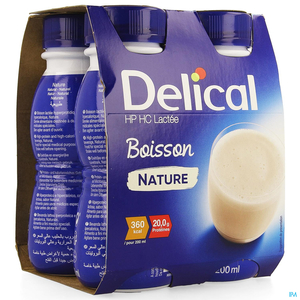 Delical Boisson Lactee Hphc Nature4x200ml Nf