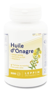 Leppin Huile Onagre 500mg 200 Capsules