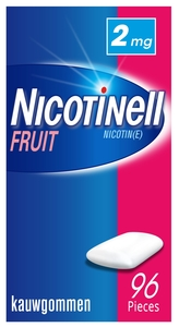 Nicotinell Fruit 2mg 96 Gommes à Macher