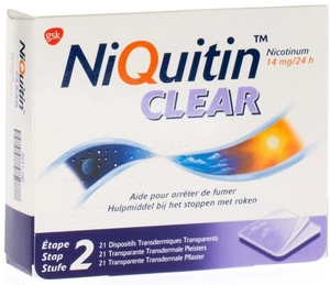 NiQuitin Clear 14mg 21 Patches