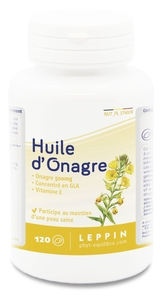 Leppin Huile Onagre 500mg 120 Capsules
