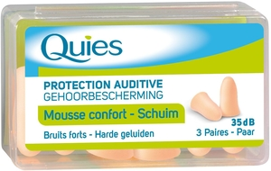 Quies Protection Auditive Mousse Chair 3 Paires