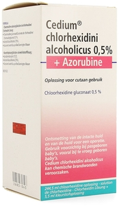 Cedium Chlorhexidini Alcoholicus 0,5% + Azorubine Solution 250ml