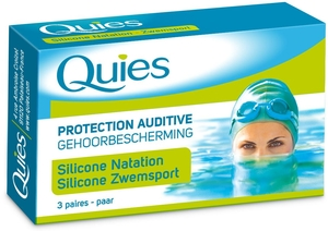 Quies Protection Auditive Standard Natation Silicone (3 Paires)