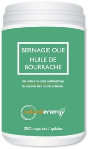 Huile Bourrache Natural Energy 250 Capsules