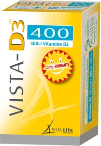 Vista-D3 Junior 400 UI 120 Comprimés Fondants