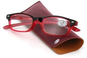 Pharmaglasses Lunettes Lecture Dioptrie +3.50 Red