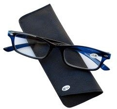 Pharmaglasses Lunettes Lecture Dioptrie +4.00 Dark Blu
