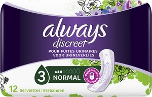 Always Discreet Incontinence Pad Normal12