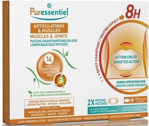 Puressentiel Articulations & Muscles 2 Patchs Chauffants Lombaires