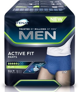 Tena Men Active Fit Pants Medium 12 Culottes