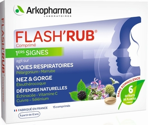 Flash'Rub 1ers Signes 15 Comprimés